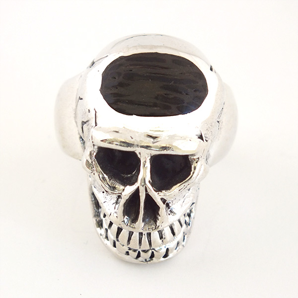 Large Skull Wood Ring