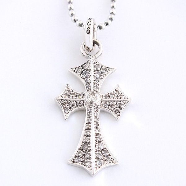 ROMAN CROSS PENDANT, PAVE DIAMOND 2.0CT