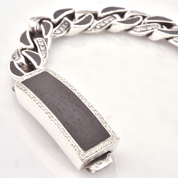 DIAMOND Wood Link DIAMOND Wood ID Bracelet