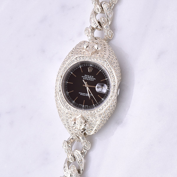 WATCH BRACELET FDL PAVE DIAMOND COMPLETE