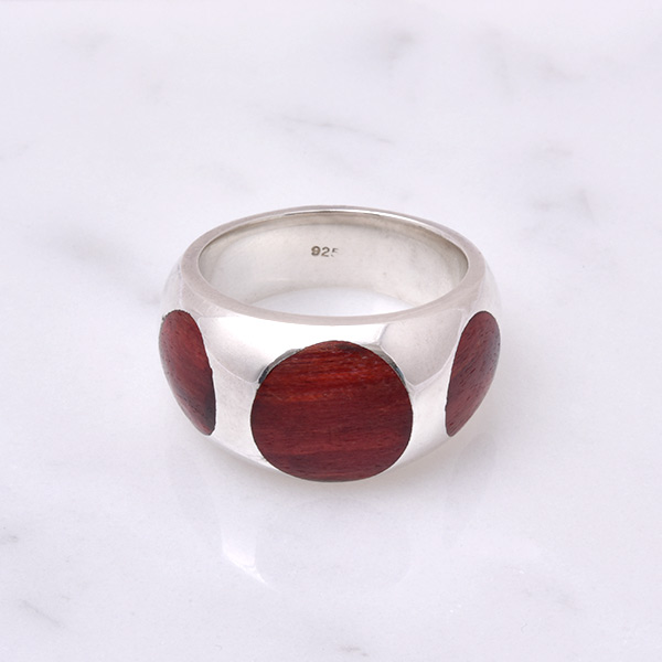 Spheric Three Wood Ring