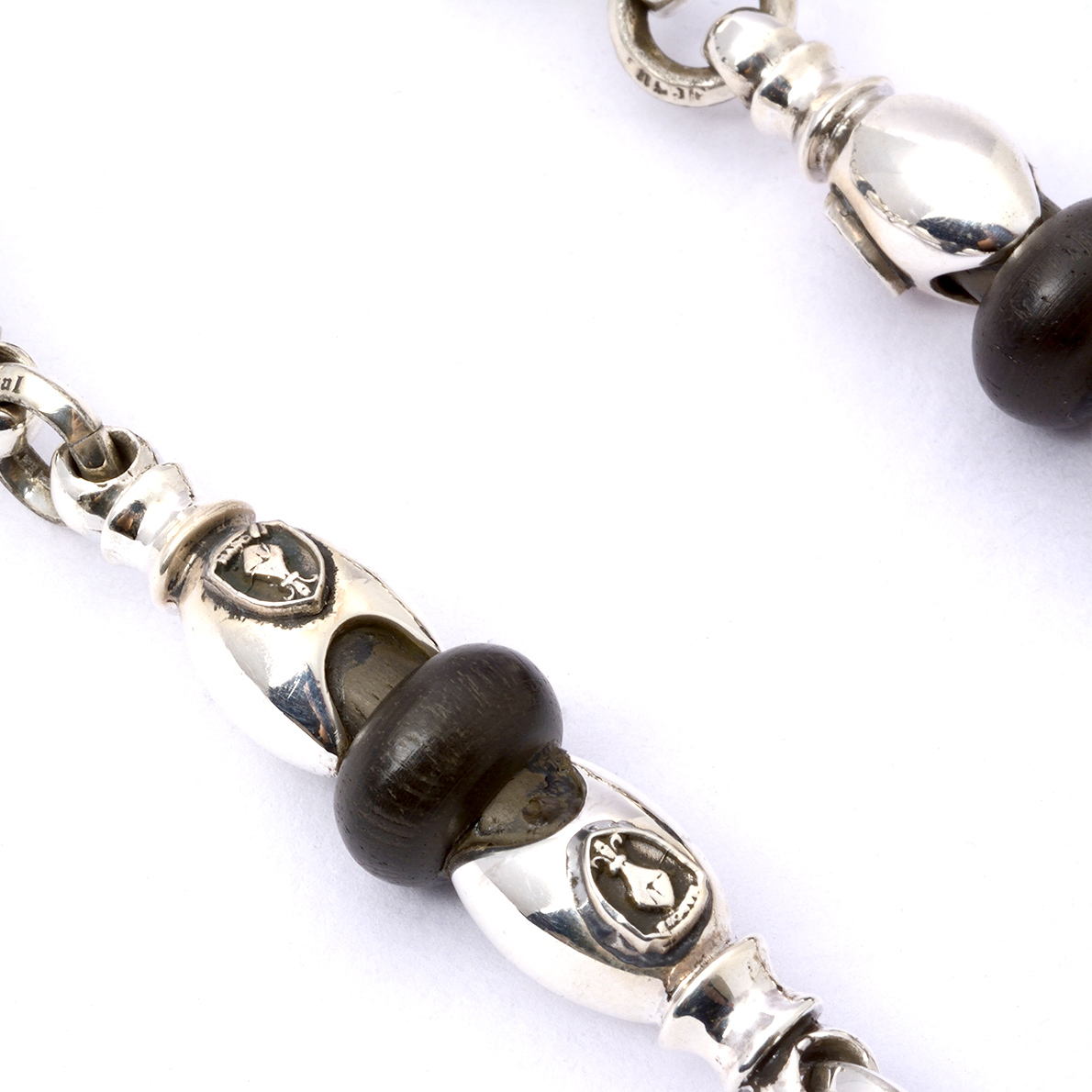 Wood Ball Wallet Chain 2-Wood Clips Long
